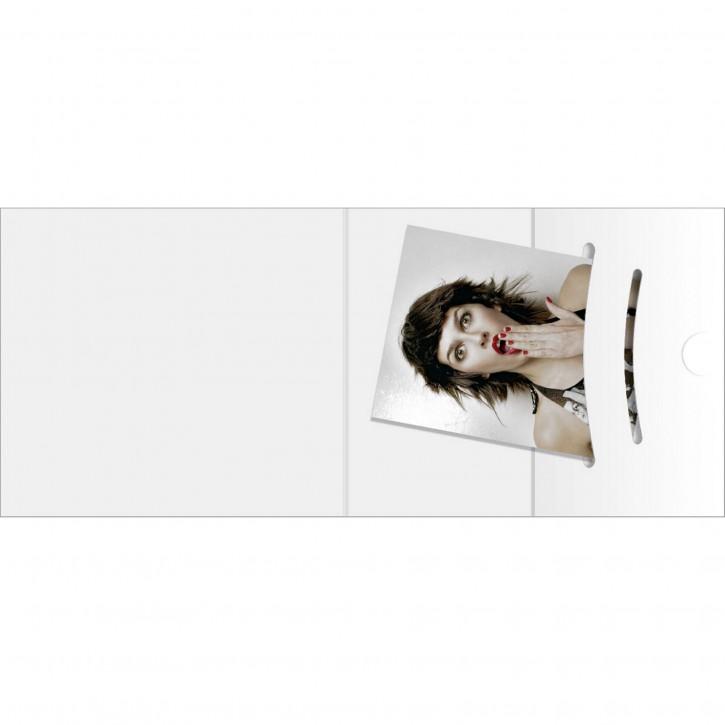 1x100 Daiber Passbildmappen weiß bis Bildgröße 70x100 mm