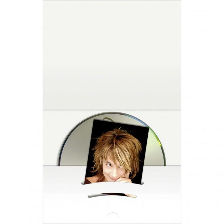1x100 Daiber Kombimappe mit CD Fach bis Bildgröße 6x9 cm weiß