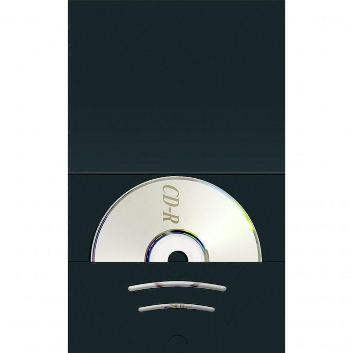 1x100 Daiber Kombimappe mit CD Fach bis Bildgröße 6x9cm schwarz