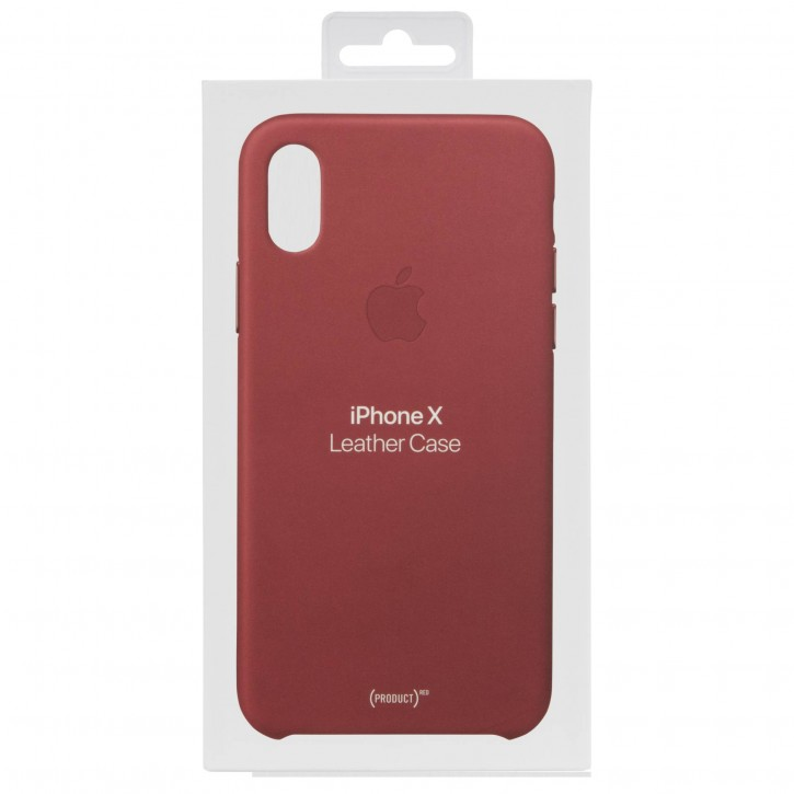 Apple iPhone X Leather Case (PRODUCT) RED