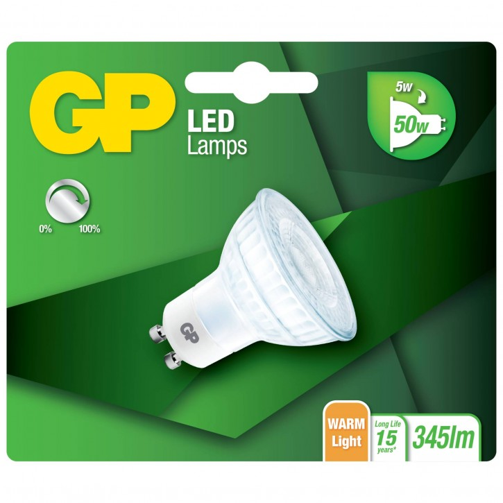 GP Lighting LED Reflektor GU10 Glas Dimmbar 5W (50W)  GP 080183
