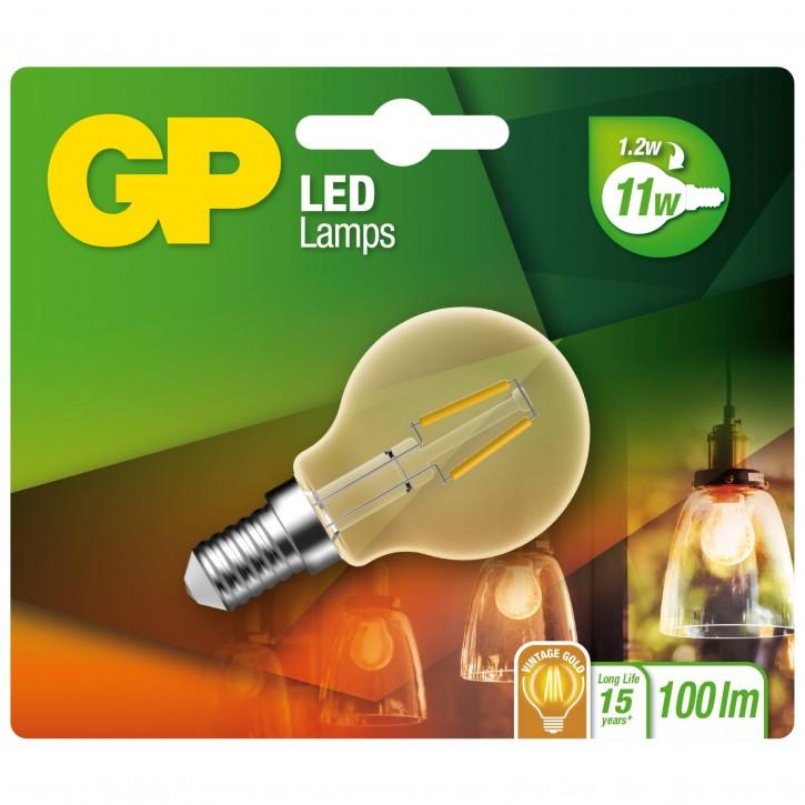 GP Lighting LED Mini Globus Gold E14 1,2W (25W)Filament GP 080589
