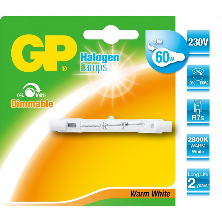 GP Lighting Halogenstab R7S 48W (60W) 78mm             GP 060406