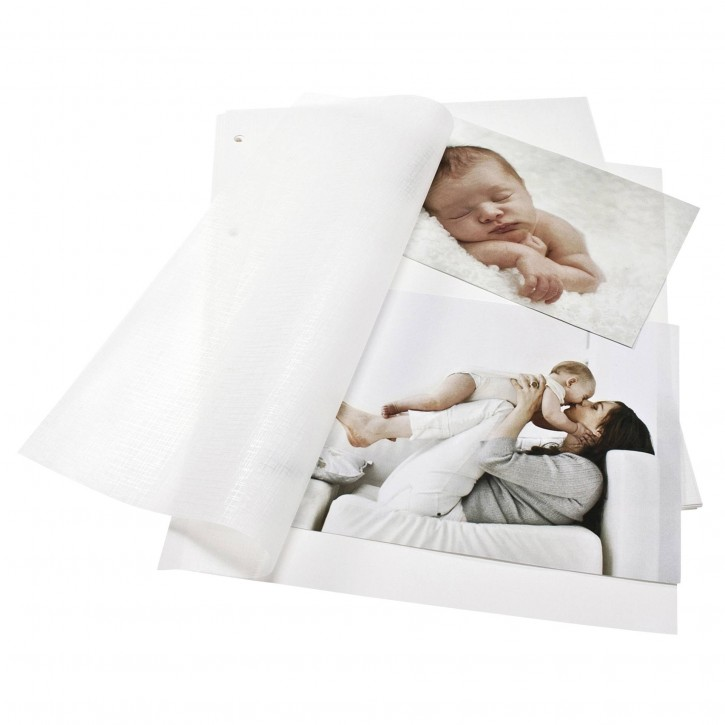 Goldbuch Fotokarton weiß DIN A4 mit Pergamyn 20 Blatt      83001