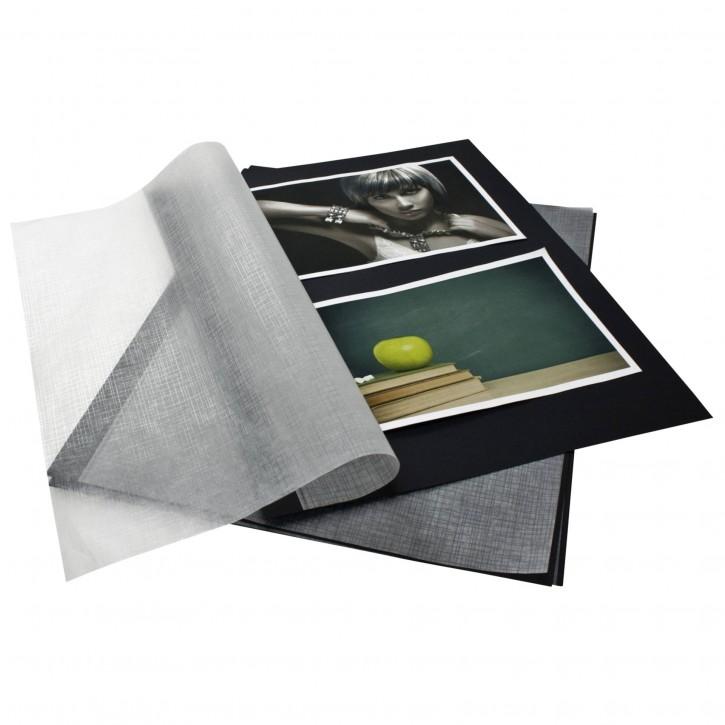 Goldbuch Fotokarton schwarz DIN A4 mit Pergamyn 20 Blatt   83006