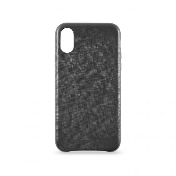 KMP Leather Case iPhone X schwarz