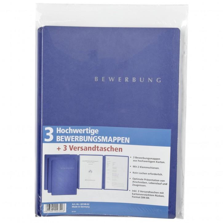 Pagna Bewerbungsset blau Inkl. 3 Versandtaschen, neutral