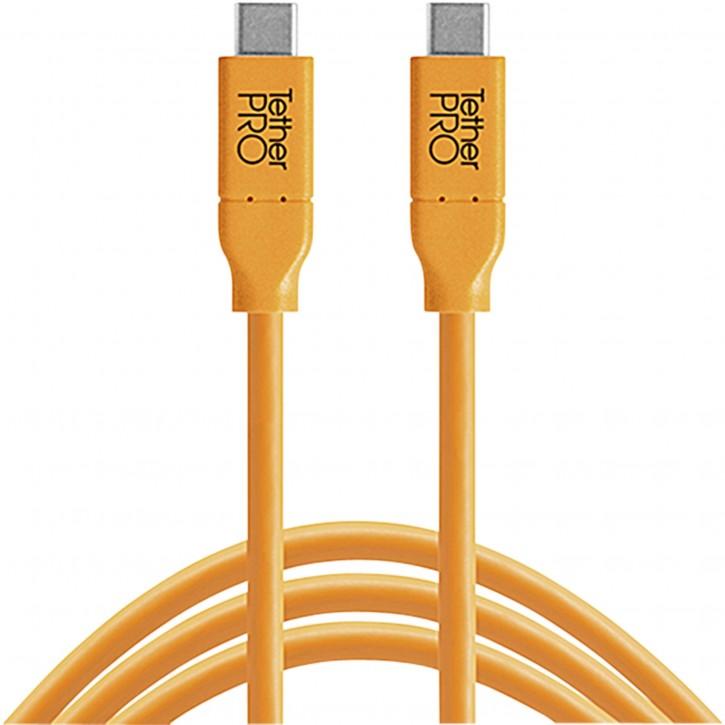 Tether Tools USB-C zu USB-C 4,60m orange