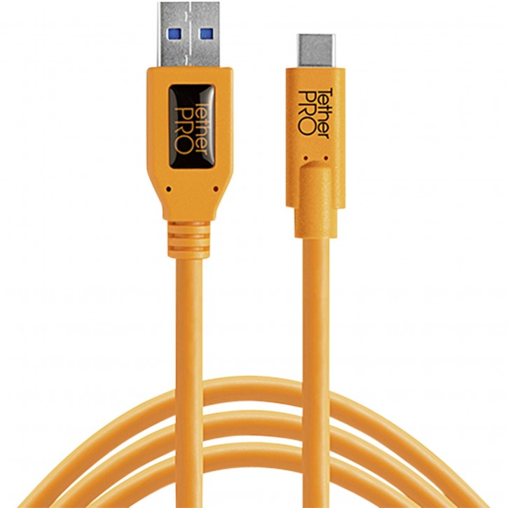 Tether Tools USB 3.0 zu USB-C 4,60m orange