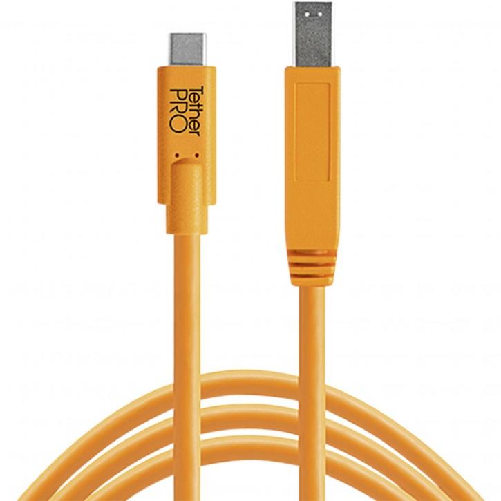 Tether Tools USB-C zu 3.0 Male B 4,60m orange