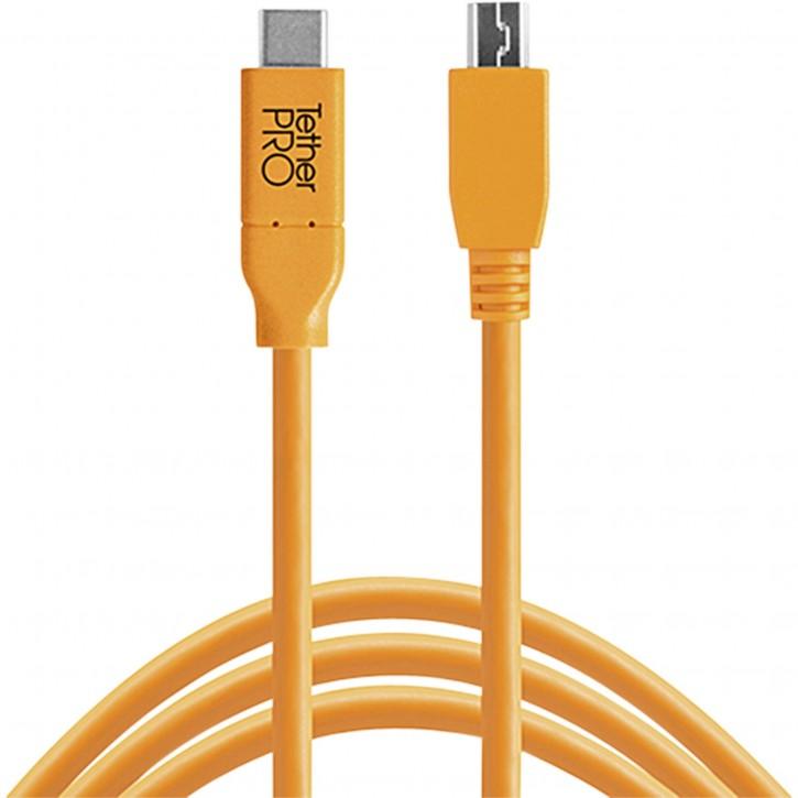 Tether Tools USB-C zu 2.0 Mini B 5-Pin 4,60m orange