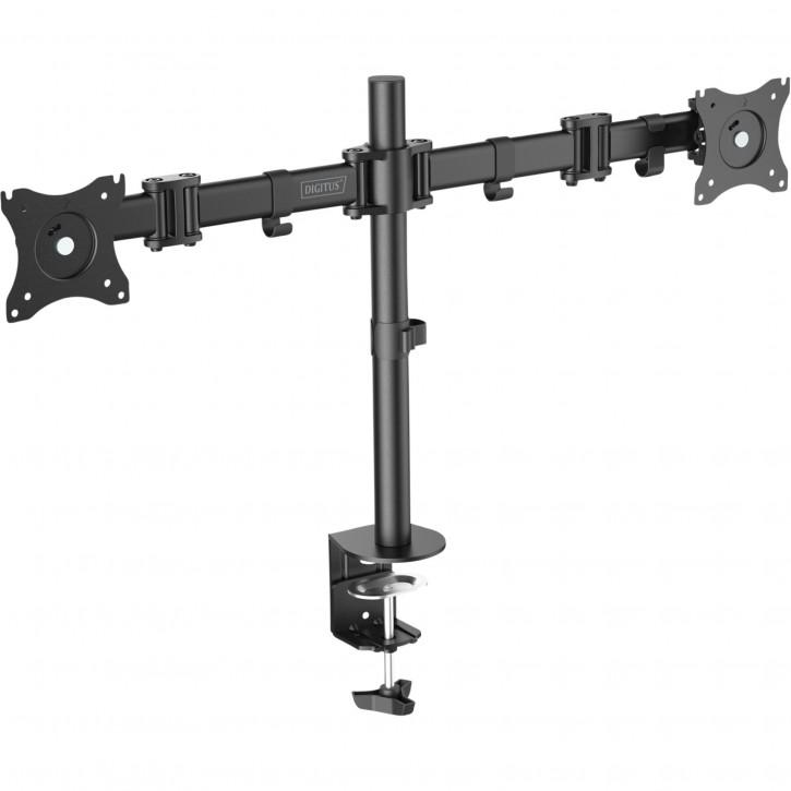 DIGITUS Universal Dual Monitor Ständer mit Klemmbefestigung