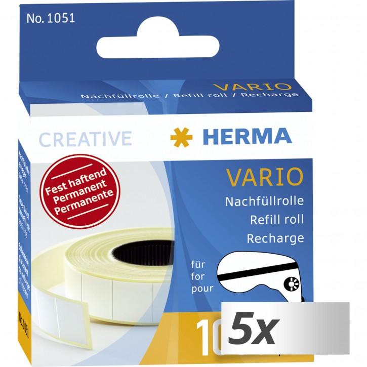 5x1 Herma Hermafix Nachfüllrolle für Vario Klebespender      1051