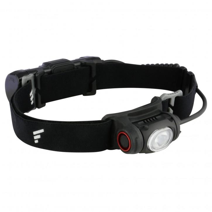Favour Stirnlampe 500 Lumen Akku 2600mAh, rotes LED Rücklicht
