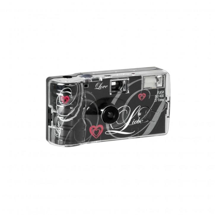 "Single use Kamera Flash 400 27 Love"" schwarz"