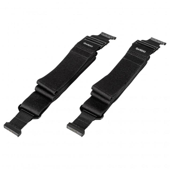 QARDIO Strap XL 2er Set schwarz für Qardio Core