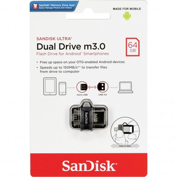 SanDisk Ultra Dual Drive    64GB m3.0 grey&silver  SDDD3-064G-G46