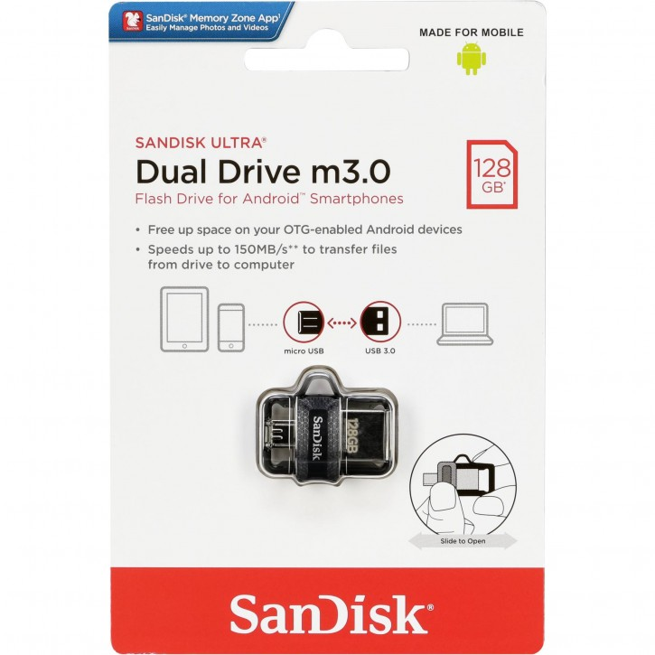 SanDisk Ultra Dual Drive   128GB m3.0 grey&silver  SDDD3-128G-G46