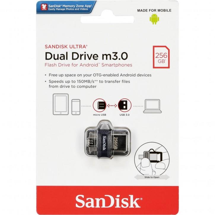 SanDisk Ultra Dual Drive   256GB m3.0 grey&silver  SDDD3-256G-G46