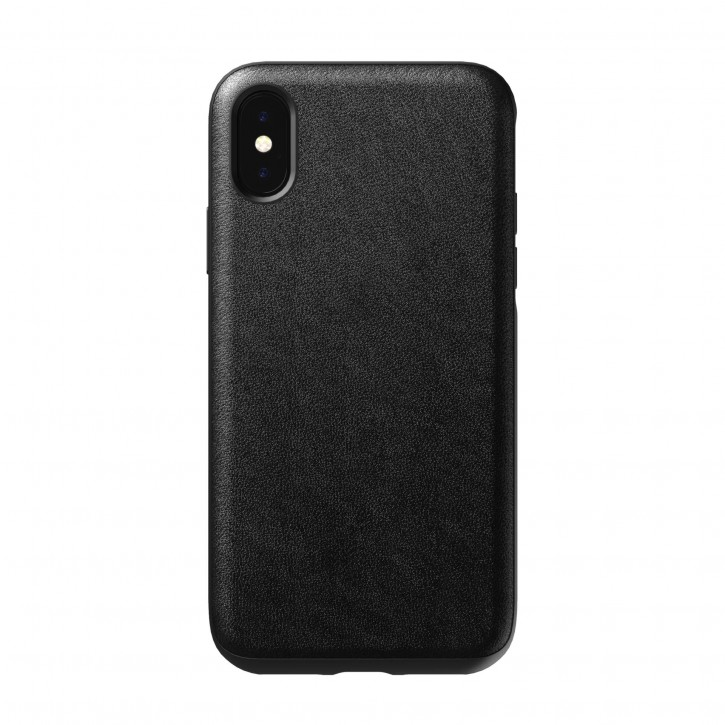 Nomad Case Leather Rugged Black iPhone X / Xs
