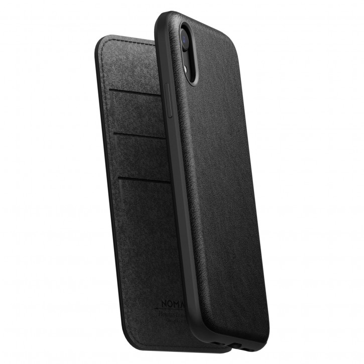 Nomad Folio Leather Rugged Black iPhone Xr