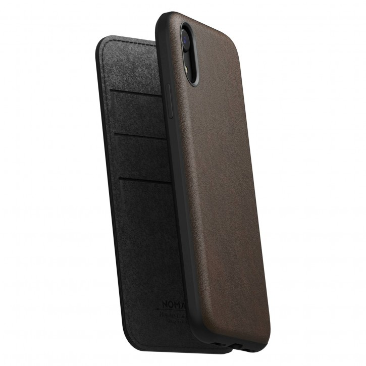 Nomad Folio Leather Rugged Rustic Brown iPhone Xr