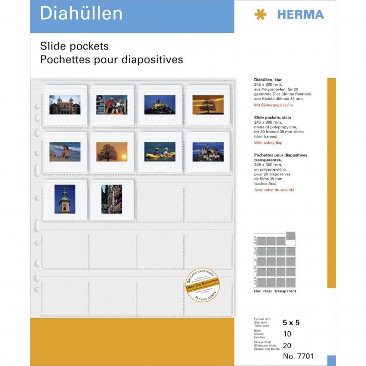 Herma Diahüllen 5x5 10 Blatt klar                        7701