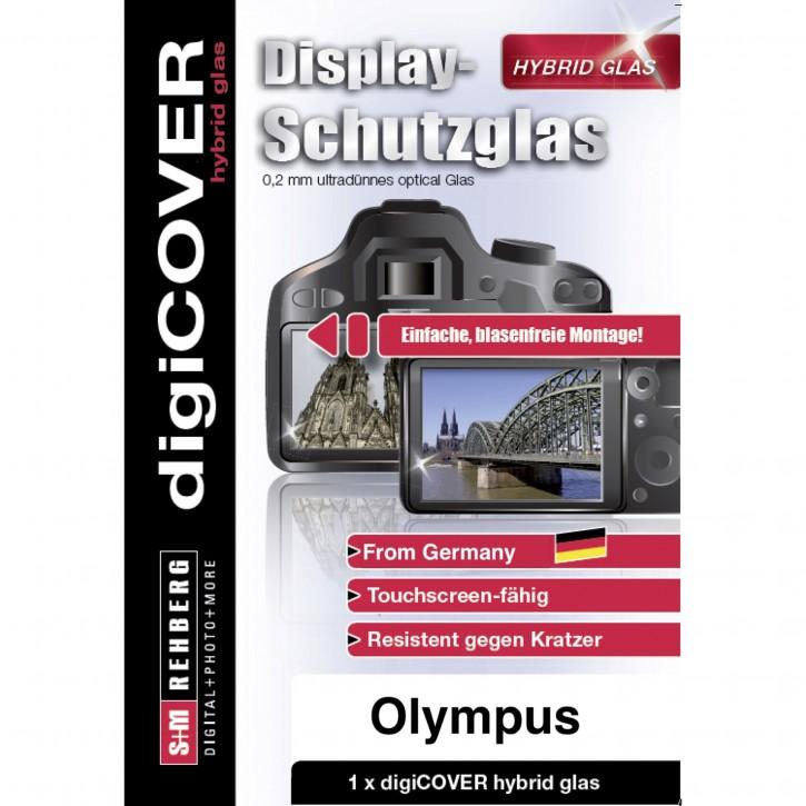 digiCOVER Hybrid Glas Display Schutz Olympus E-M1 E-M5 E-M10