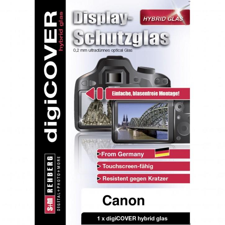digiCOVER Hybrid Glas Display Schutz Canon EOS 800D