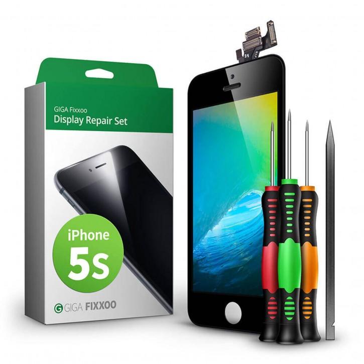 GIGA Fixxoo  iPhone 5s Display Komplettset schwarz