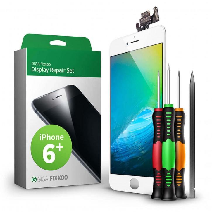 GIGA Fixxoo  iPhone 6 Plus Display Komplettset weiß