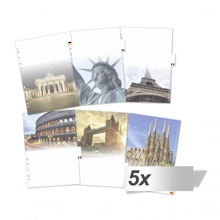 5x1 Herma Motiv-Register Städte DIN A4 - 6-teilig          19431