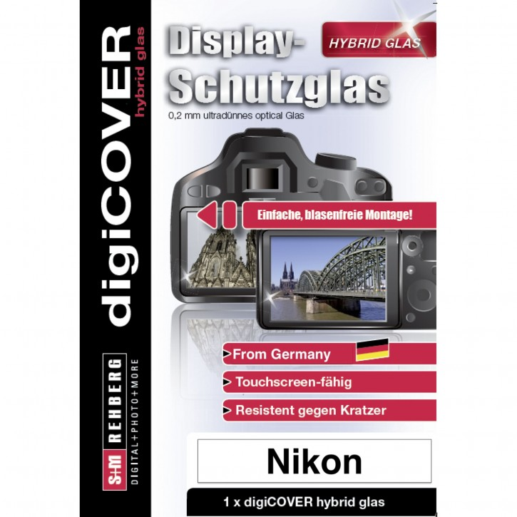 digiCOVER Hybrid Glas Display Schutz Nikon A1000