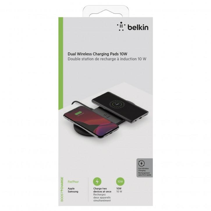 Belkin Dual wirel. Charging Pad 2x10W Netzteil schw.  WIZ002vfBK