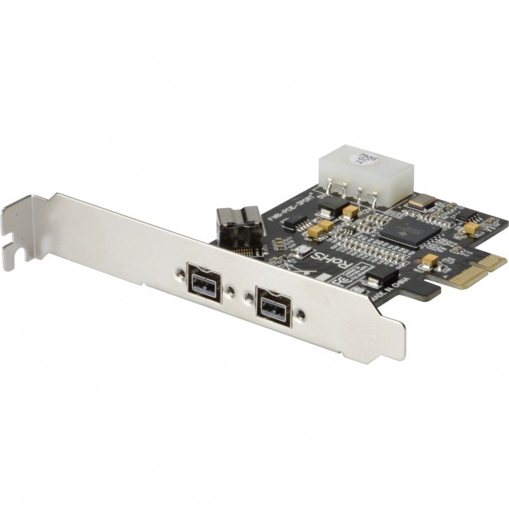 DIGITUS Firewire 800 PCIe Card 2x9-Pin Extern + 1x9-Pin Intern