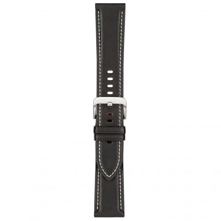 Samsung Stitch Leather Band 22mm Galaxy Watch3 Black M/L