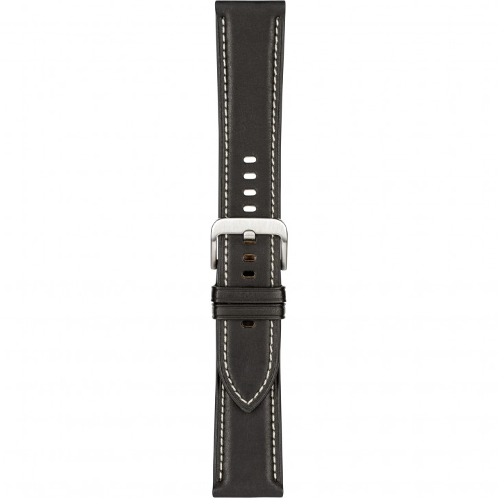 Samsung Stitch Leather Band 20mm Galaxy Watch3 Black S/M