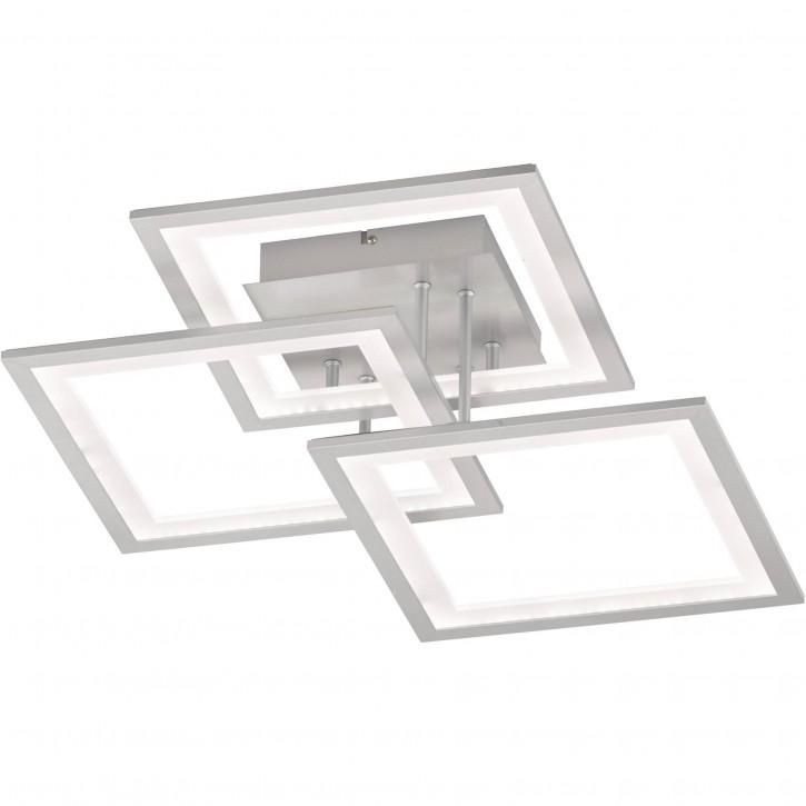 WOFI LED Deckenleuchte MODESTO 33W 2590lm Silber dimmmbar