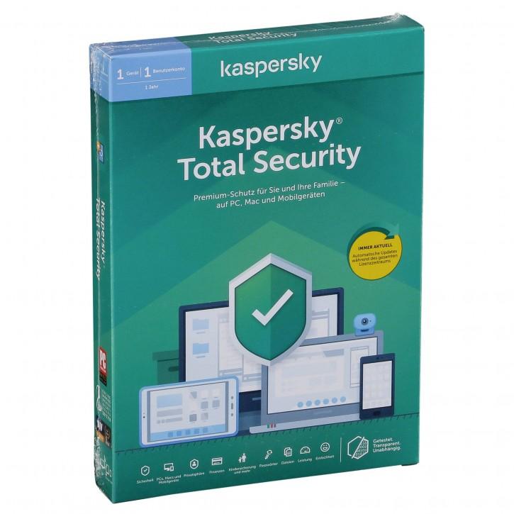 Kaspersky Total Security 1 Gerät / 1 Jahr