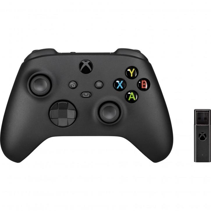 Microsoft Xbox Wirel Controller + wireless Adapter Win 10