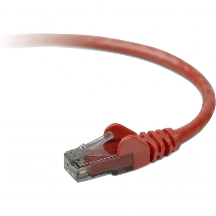 Belkin CAT 5 e Netzwerkkabel 0,5 m UTP rot Snagless