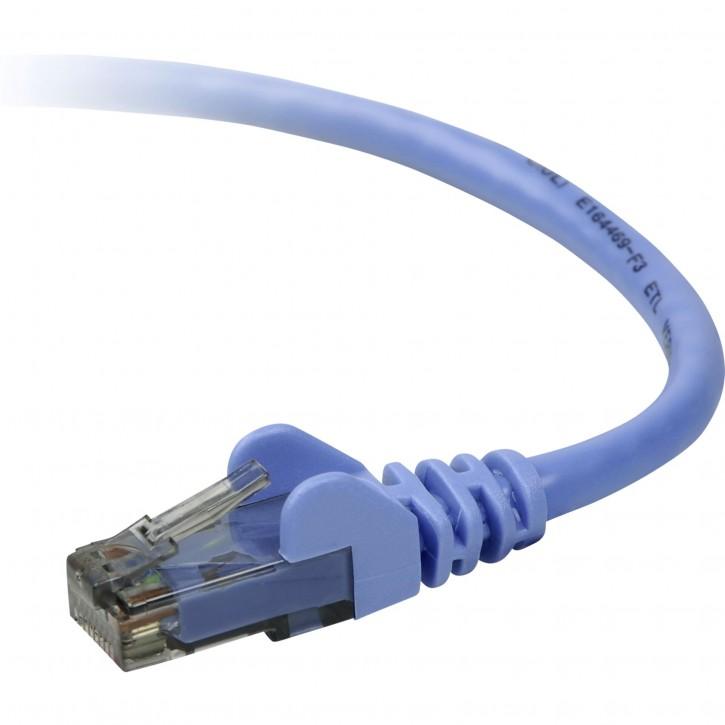 Belkin CAT 6 Netzwerkkabel 0,5 m STP blau Snagless