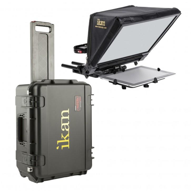 Ikan PT-ELITE-V2-TK Elite Tablet + iPad Teleprompter Travel Kit