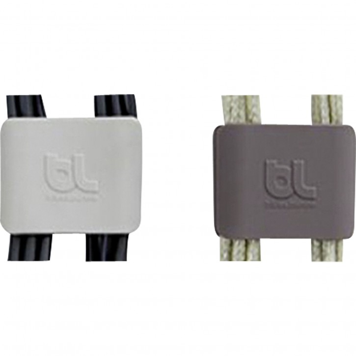 Bluelounge CableClip Large, Dark Grey & Light Grey