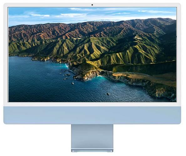 Apple iMac 24-inch 4.5K Retina M1 chip / 512GB Blue