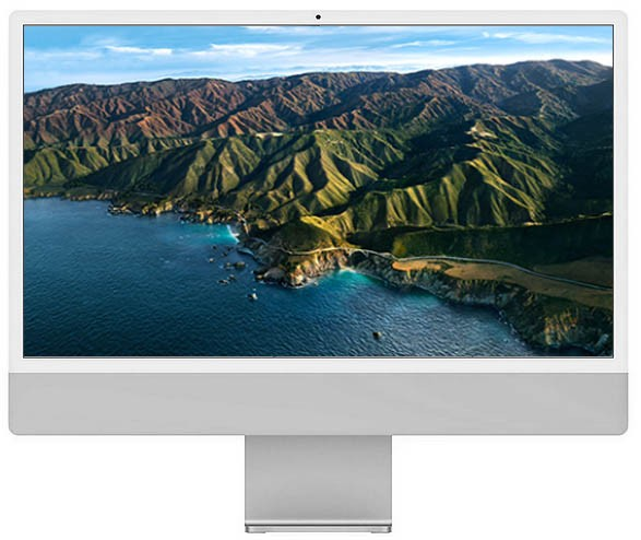 Apple iMac 24-inch 4.5K Retina M1 chip / 256GB Silver