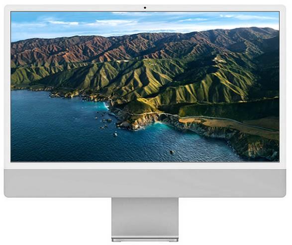 Apple iMac 24-inch 4.5K Retina M1 chip / 512GB Silver